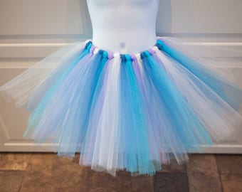Aqua, Periwinkle, and Lavender Tutu/Trolls Chenille Tutu - Other Colors Available