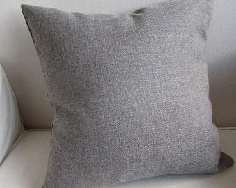 GRAY decorative designer pillow cover 18x18 20x20 22x22 24x24 26x26