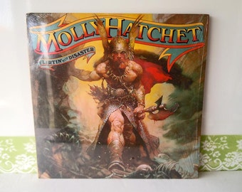 Vintage 1979 Molly Hatchet Vinyl Record Album Flirtin with Disaster JE 36110 Epic Records