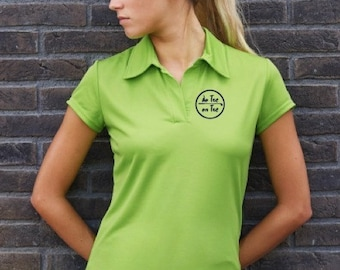 Polo t-shirt for women De Tee En Tee logo in different colors.