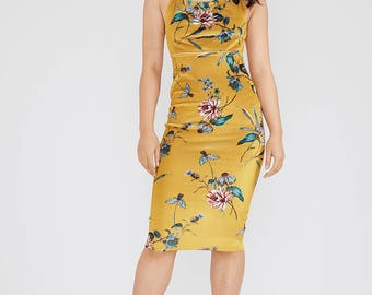 Backless Strap Bodycon Dress