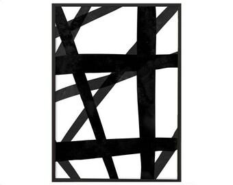 Abstract Monochrome Art Print | Modern Minimalist Art Print | Modern Monochrome Print | Stylish Wall Art Print | Fashion monochrome print