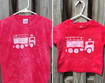 Daddy and Me Fire Truck Shirts, Daddy and Me Outfits, Matching Dad and Child Shirts, Father's Day Gift, Matching Mom and Kid Shirts