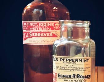 Antique Rx Bottles (x2)