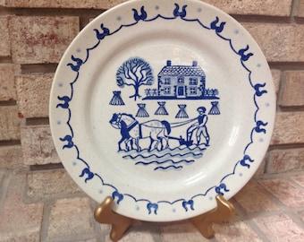 3 Vintage  Metlox Poppy Trail Provencial Blue Plates