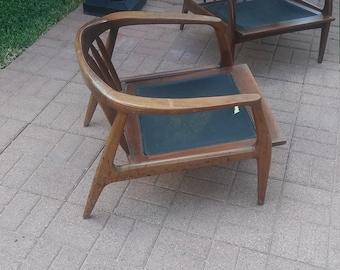 Milo Baughman for Thayer Coggin walnut chairs