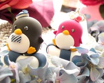 penguins bride and groom Wedding Cake Topper