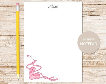 personalized ballet notepad . toe shoes note pad . ballerina notepad . ballet dancer, ballet teacher . dance . personalized stationery