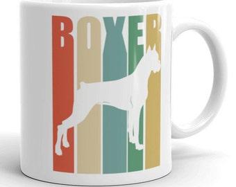Boxer Dog Vintage Retro Style Mug