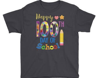 Happy 100th Day of school - 100 days of school - 100 days smarter - school shirt - 100th day of school - 100 days shirt - 100th day shirt