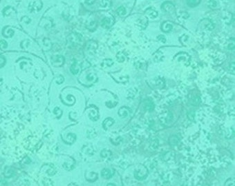 Quilting Temptations Turquoise Blender from Quilting Treasures by the yard