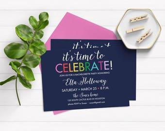 Bachelorette Party Invitation, Fun Bachelorette Party Invitations, Bachelorette Party Invites, Bridal Shower Invitations
