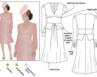 Style Arc Sewing Pattern - Peony Woven Dress - Sizes 10, 12, 14 - Dress PDF Sewing Pattern