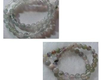 105 Fluorite Gemstone Beads 8-9mm Round Beads