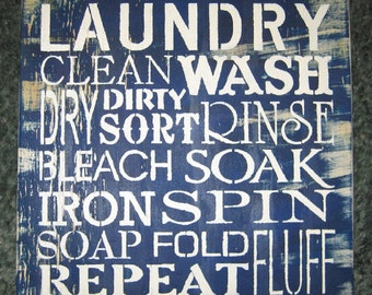 Laundry.....wall hanging/ weathered looking/ vintage looking/family/mother's day