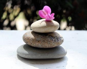 Empilage de trois pierres, faire votre propre Zen Cairn et lâche Lac Pierre Sculpture Maison Jardin décoration ZC3