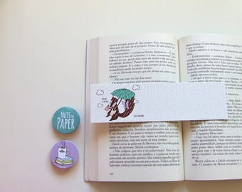 Singing in the Rain Squirrel - Squirrel Bookmark Collection