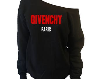 Givenchy Shirt | High Fashion Givenchy Inspired Sweatshirt | Givenchy Off Shoulder Slouchy Sweatshirt [562s]