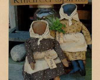 Primitive Doll Pattern Folk Art  Prairie Dolls Farmhouse Herbs