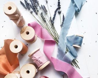 100% natural silk ribbons