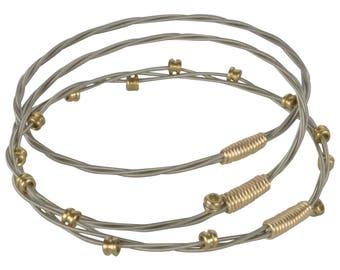 Triplet -  Guitar String Bangle Bracelet