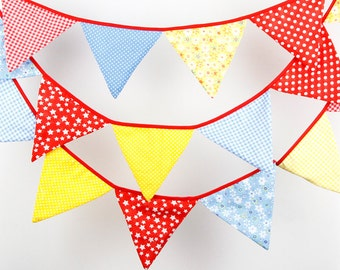 4.4M 18 Candy flags Wedding Bunting Party Birthday Show Handmade Decoration Photo Prop Cotton Fabric Garland Vintage Room Decor