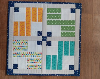 Modern Mini Quilt Wall Hanging or Table Topper