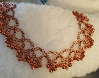 Copper anklet with copper slave bells