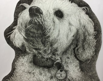"""Finely-Detailed portraits 18"""" x 18"""""""