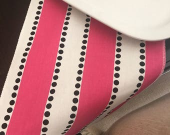 Pink Black Baby Shower | Pink Black | Wedding Bridal | Stripe Table | Pink Birthday Tablecloth | Polka Dot