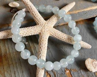 Natural Aquamarine bracelet