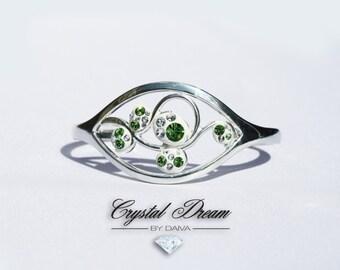 Swarovski Crystal Green Ivy Bracelet Bangle