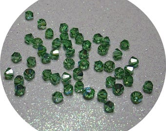 SWAROVSKI ERINITE AB 4MM BICONE BEAD