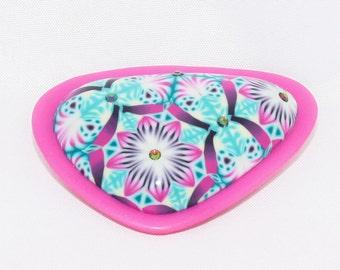 "Handmade polymer clay brooch ""Kaleidoscope"""