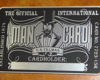 Custom Official INTERNATIONAL MAN CARD For Your Wallet (Credit Card Sized)!