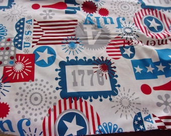 Happy Birthday USA by Alexander Henry Cotton Fabric 1/2 Yard Cut New