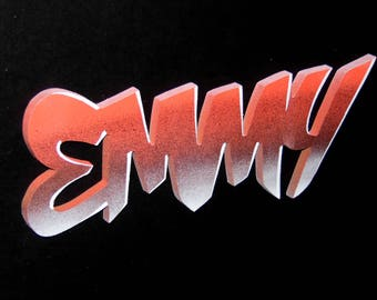 Theme: Metallic / / custom name wooden Plaque / / Graffiti