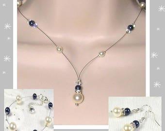 Parurer Swarovski 3 piece wedding Collection Glamour necklace 2 - wedding ceremony Kelly ♥ ♥