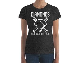 Diamonds are a Girl's Best Friend - Women's short sleeve t-shirt