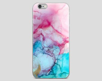 Mermaid Water - Colourful Abstract Alcohol Ink Fluid Art iPhone Case