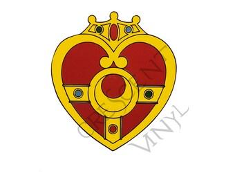 Sailor Moon Multi Color Die Cut Vinyl Decal Sticker *Cosmic Heart Compact* Iphone, Laptop, Mirror, Car, Windows, etc
