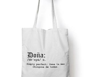 Doña Grocery Tote Bag