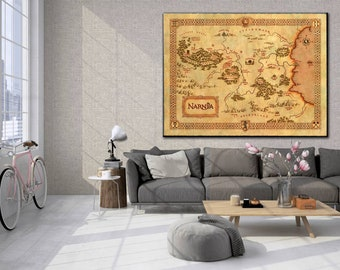 Narnia Map, Narnia Art, Wall map of Narnia, Chronicles Of Narnia, Narnia Map The Lion the witch and the Wardrobe, Fantasy Maps