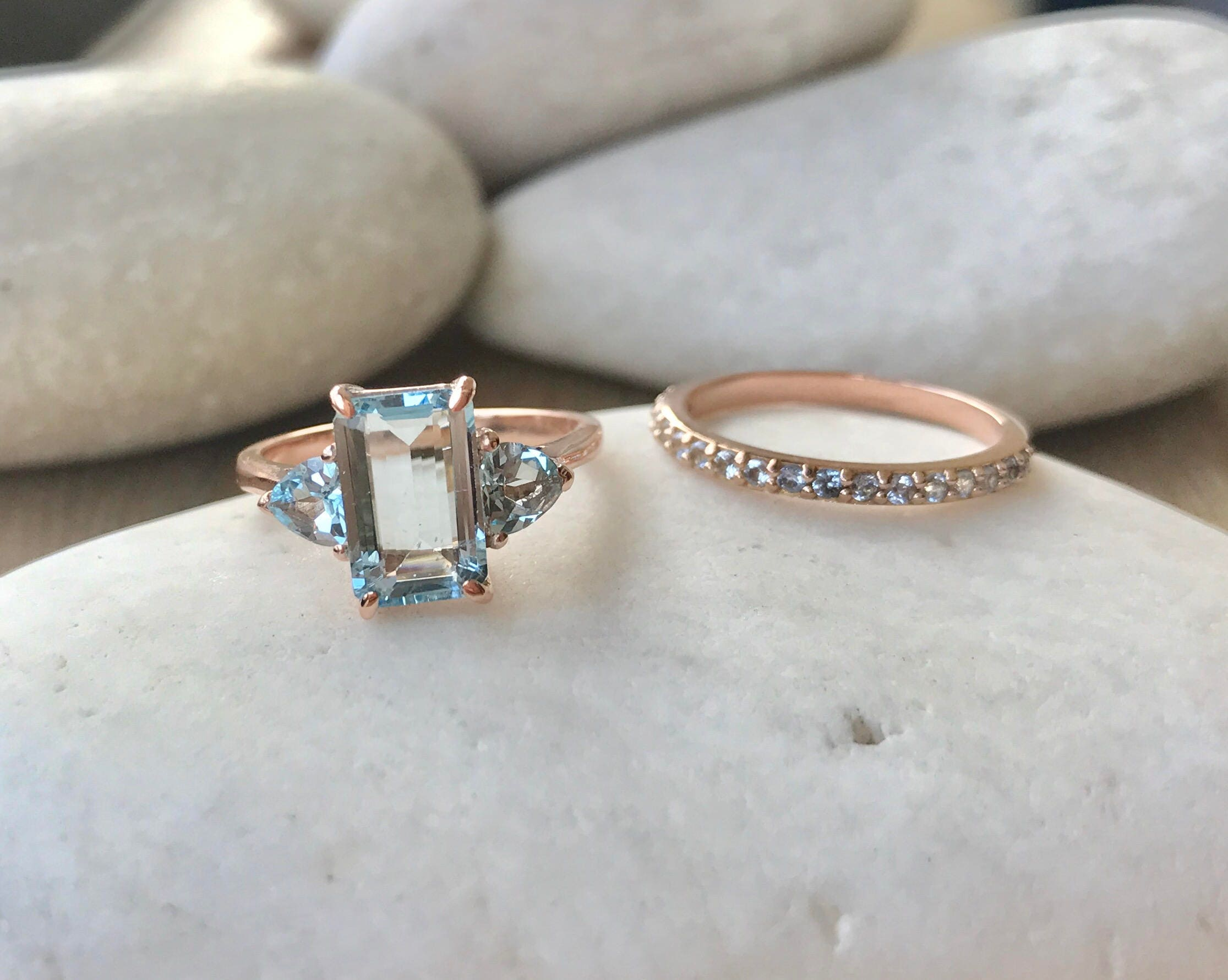 promise gold ring aqua aquamarine and rings in engagement gcbfssq halo gemstone diamond new cirque white wedding vintage marine
