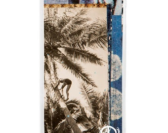 NEW iPhone 7/7+ Case, Indigo Palms, Indigo, Sea, Waves, Beach, Surf, Ocean Art, Ocean, Sunset, Art, Avail with Black or White case color