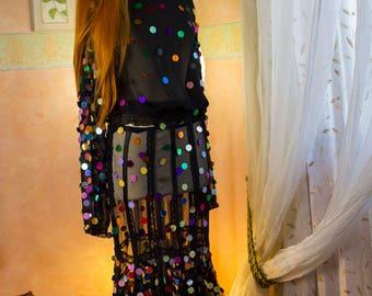transparente voller Shirt und Rock tausend Farben spiegeln