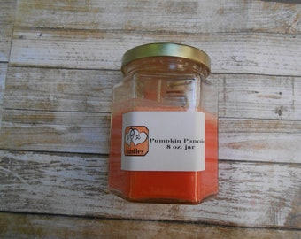 Pumpkin scented candle, pumpkin soy candle, scented candles, soy scented candle, orange pumpkin candle, fall candle, mother's day gift,
