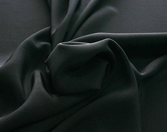 305201-Crepe marocaine Natural Silk 100%, width 130/140 cm, made in Italy, dry cleaning, weight 215 gr