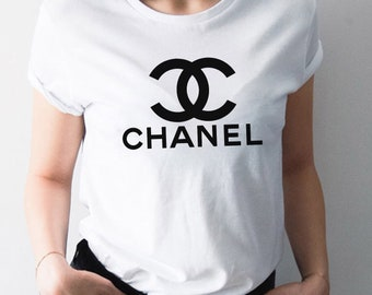 Chanel Shirt Women, Chanel Logo Paris Inspired Tee For Women, For Her, Designer Design, Hype Beast, Streetwear Fashion, Limited