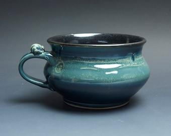 Handmade pottery soup mug ceramic chili mug cereal ice cream bowl 24 oz  3663